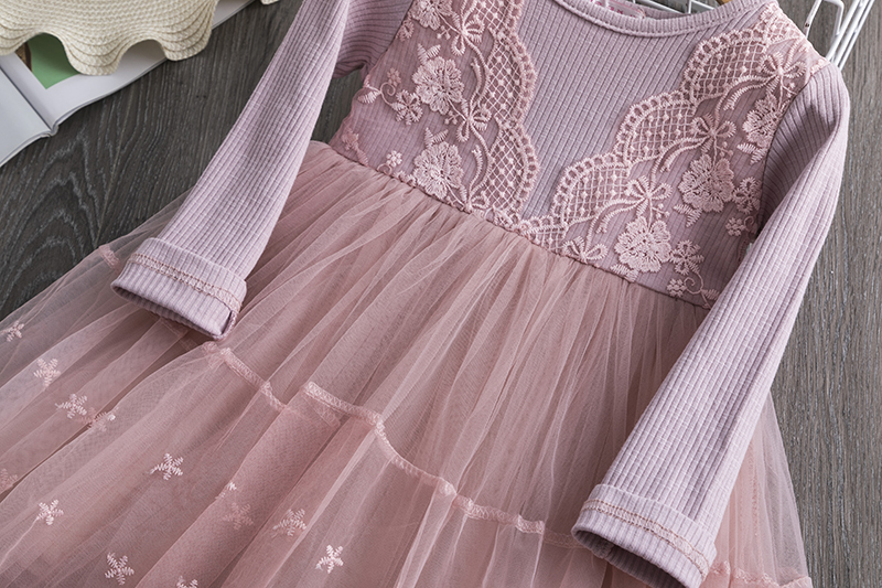 Hd4547abe753c4842ace773e2d553513ba Red Kids Dresses For Girls Flower Lace Tulle Dress Wedding Little Girl Ceremony Party Birthday Dress Children Autumn Clothing