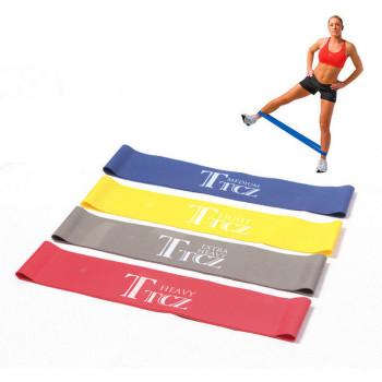 Colorful Yoga Resistance Bands Fitness Training Pull Rope Home Gym Fitness Equipment Pedal Exerciser Hip Leg Muscle Exercise image