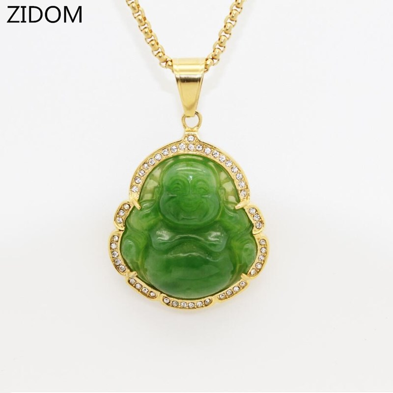 Men/Women Hip hop Maitreya Buddha pendant necklaces Stainless Steel never fade Buddhism necklace jewelry gifts|Pendant Necklaces| - AliExpress
