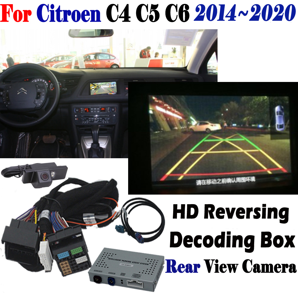 Reversing Camera For Citroen C4 C5 C6 2014 2015 2016 2017 2018 2019 2020 interface Adapter Original Display Front & Rear Vehicle Camera     - title=