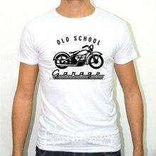 Camiseta Hombre SLIM FIT de la vieja escuela garaje MOTO MOTOCICLETTA REGALO HOBBY VINTAGE