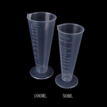50ml 100ml Transparent Plastic Cone Measuring Cup With Scale Graduated Cylinders School Laboratory Kitchen Measure Accessories