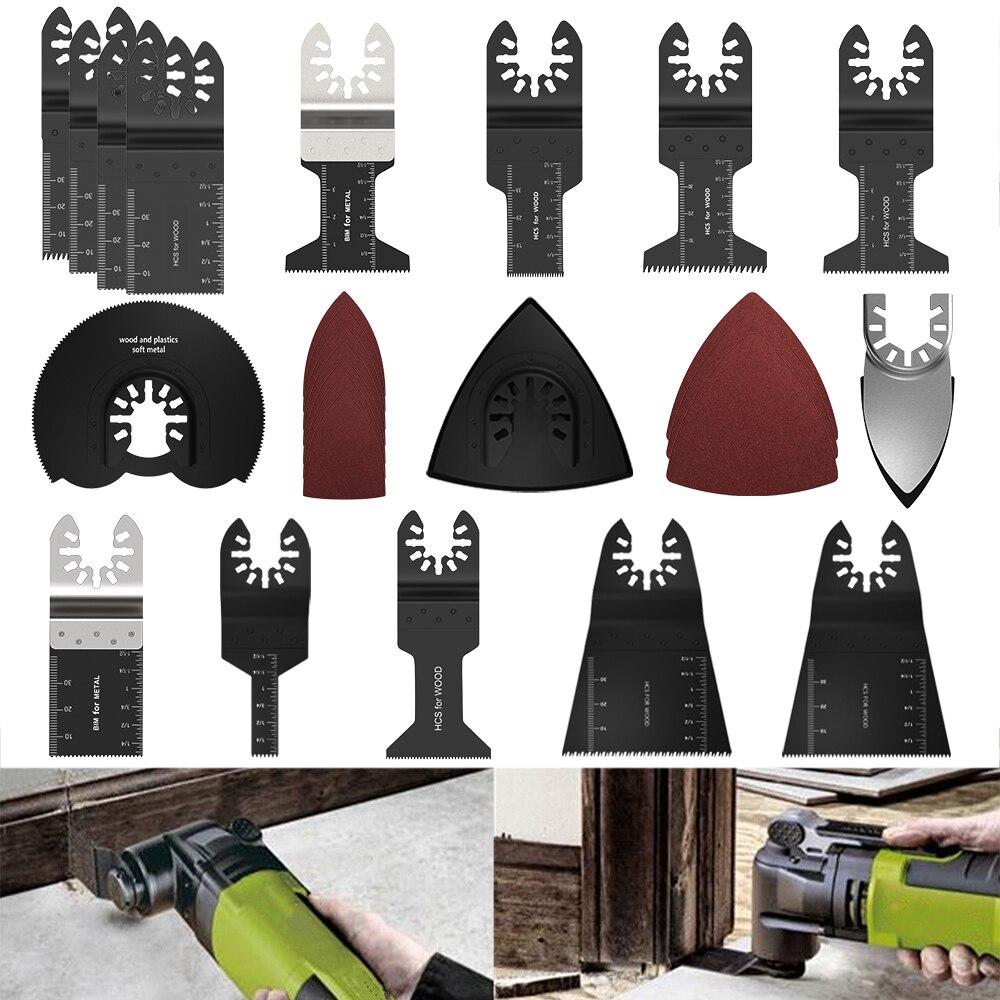 56 pçs ferramenta de oscilação lâminas de