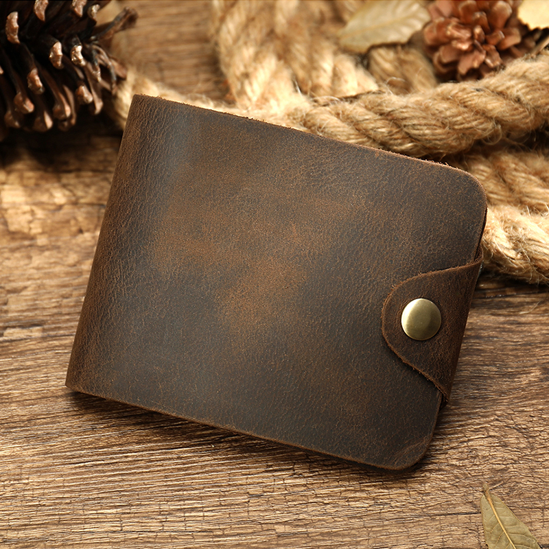 Luufan Men Vintage Crad Holder  For Men's Leather Purse Men's Clutch Bag Wallet For Money Bag  Men's Wallet Clutch Male Purse