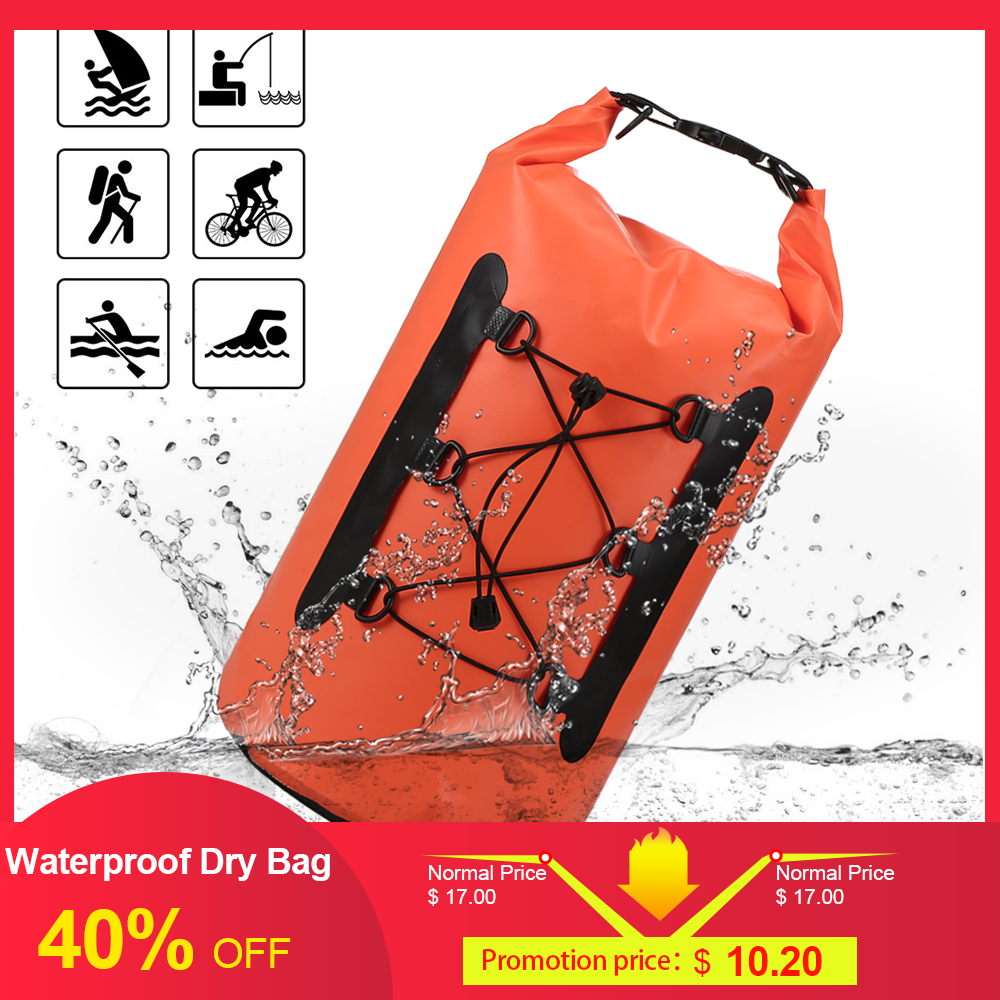 15L Waterproof Dry Bag Backpack Pack Sack Swimming Rafting Kayaking Floating Sailing Diving Fishing Surfing Waterproof Phone Bag