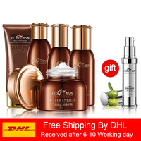 Fonce Anti Wrinkle Skin Care Set Face Nourish Lifting Firming Anti Aging Serum 5 Kit [Cleanser+Essence+toner+Lotion+Cream]