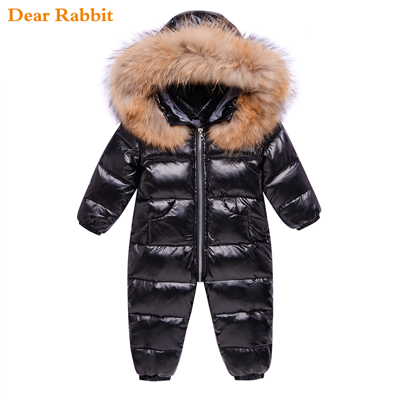 Russia children clothing winter down jacket boy outerwear coat thick Waterproof snowsuit baby girl clothes parka infant overcoat