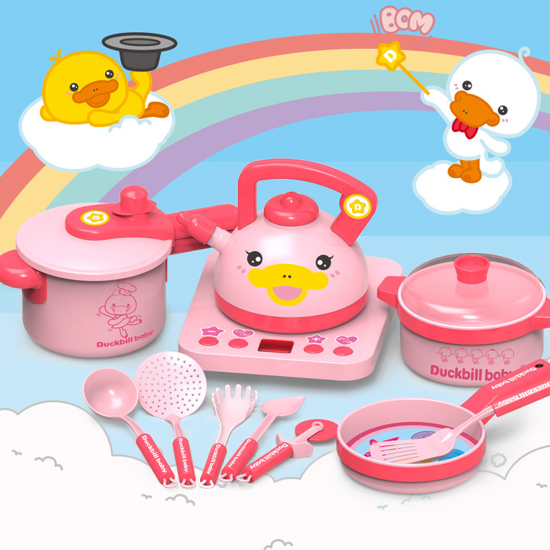 Platypus Item Children Play House Kitchen Toy Cooking Model Meal Kitchenware Baby Kitchenware Kit