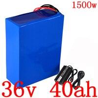 36 v 배터리 팩 36 v 40ah 전기 자전거 배터리 36 v 리튬 배터리 5a 충전기와 36 v 1000 w 1500 w 전기 scoote 배터리