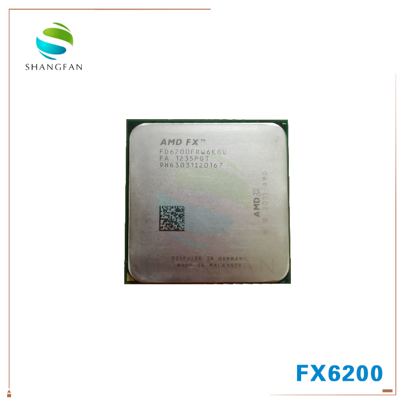 AMD FX-Series FX-6200 FX 6200 FX6200 3.8 GHz Six-Core CPU Processor FD6200FRW6KGU Socket AM3+