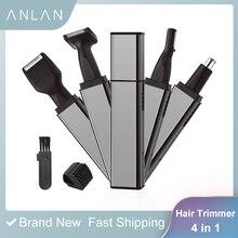 Elektryczny trymer do uszu nosa akumulator broda trymer do brwi elektryczny nos golarka do włosów Cliper depilator Remover 4 w 1