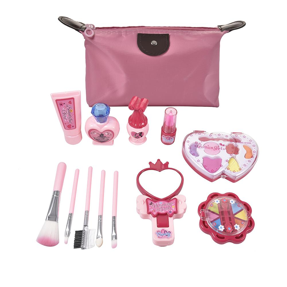 Kid Makeup Set Toys Suitcase Dressing Cosmetics Girls Toy Plastic Beauty Safety Pretend Play Children Girl Makeup Games Gifts image
