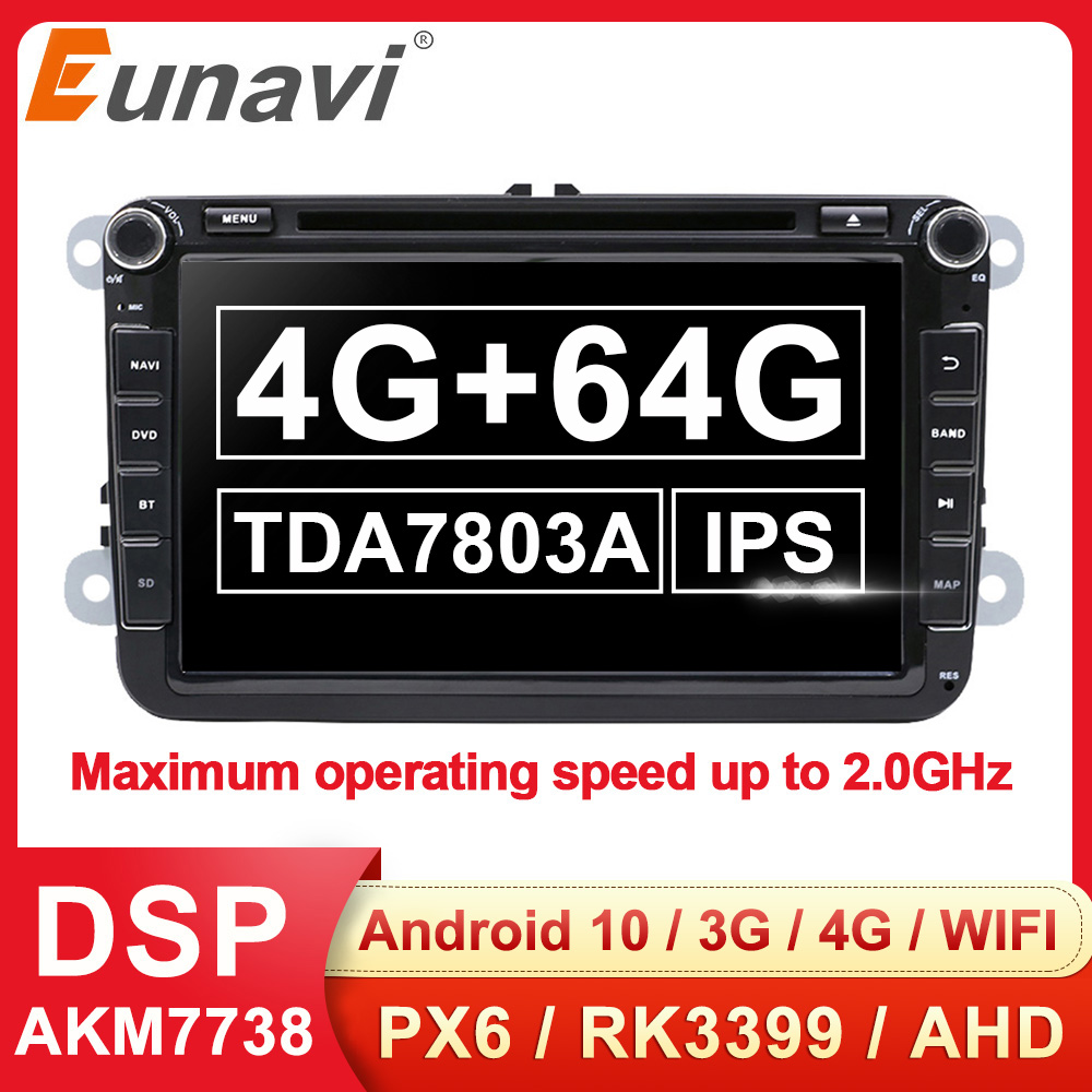 Eunavi 2Din Android GPS Car DVD Multimedia Radio Auto For VW Polo Jetta passat b6 b7 cc fabia skoda Octavia Touran golf 6 Tiguan image