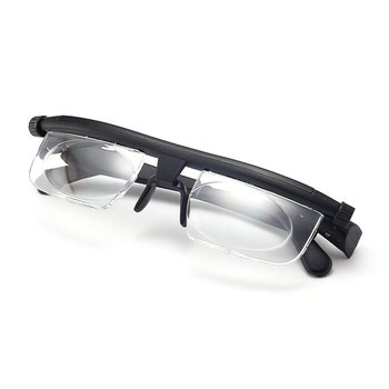 Adjustable Glasses Non-Prescription Lenses for Nearsighted Farsighted Computer Reading Driving Unisex Variable Focus Glasses NEW image
