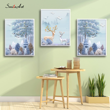 Northern Europe Deer Canvas Wall Pictures For Living Room On The Home Decor cuadros
