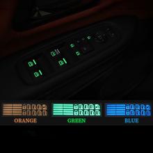 1Pcs for Toyota CH-R corolla camry Rav4 Car Styling Car Door Window Lift Window Button Sticker Car Sticker Luminous decoration