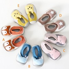 Baby Shoes Cute Animal Casual Sneakers Newborn Baby Boys Girls First Walkers Shoes Infant Toddler Soft Sole Anti-slip Shoes недорого