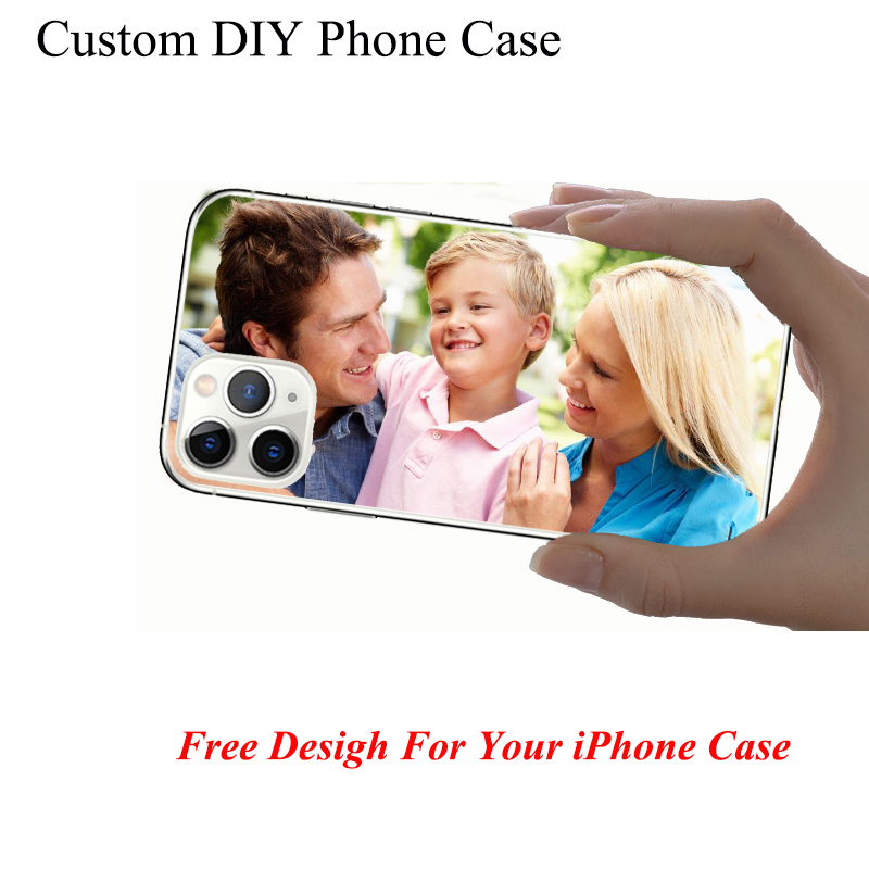 Personalized Customized TPU Phone Back Case Cover For iPhone 11 Pro 6 7 8 9 se2 plus X XS XR Max DIY Pattern Custom Photo Pic