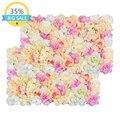 40x60cm Silk Rose Flower Wall Mat Wedding Decoration Backdrop Artificial Flower Mats Flower Wall Home Romantic Wedding Decor