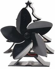 New Fireplace Fan Christmas Tree Black High Temperature Cooling Fan Without Electricity Energy Saving Stoves Fan