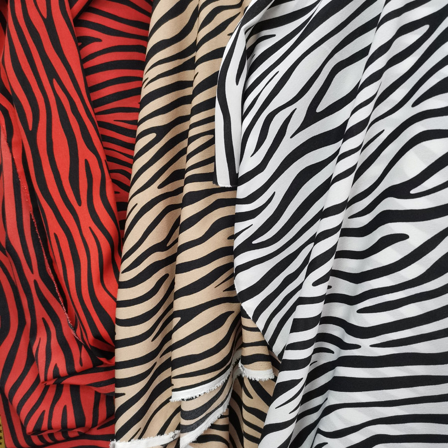 Zebra chiffon fabric printed material Stretchy dropping breathable scarf blouse DIY craft cosplay fabric 1 yard