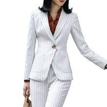 Новые женские штаны в полоску, женский костюм с длинными рукавами и штаны, Женский блейзер, размер, офисная одежда, костюм для беременных