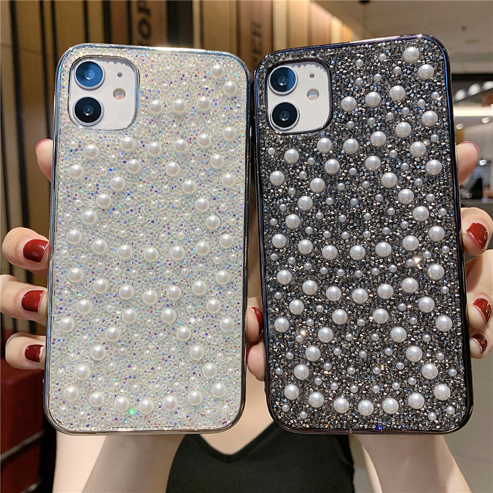 Fashion pearl iPhone case for girl for iPhone 11 11promax xsmax se2020 7 8 8plus x xs xr Antiskid design soft back coque cover