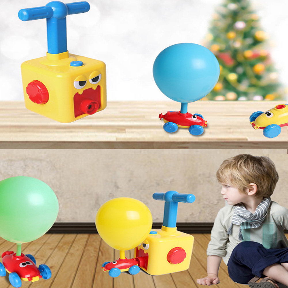 Car Toys For Children Aerodynamic Forces Inflatable Balloons Toy Car Inertial Power Balloon Toy Baby Early Education Gift