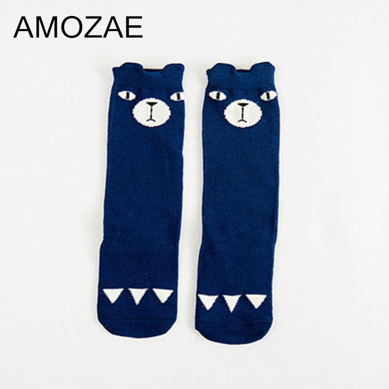 Newborn Toddler Knee High Sock Baby Girl Boy Socks Anti Slip Cute Cartoon Beer Leg Warmers For Newborns Infant Warm Long Sock