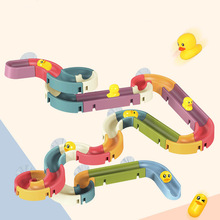 Bath-Toys Water-Games-Tool Duck-Track Bathing-Suction-Set Play Baby Kids