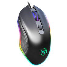 HXSJ 6400DPI Wired Gaming Mouse 6 Buttons Four Adjustable DPI RGB Gaming Mouse A866 For PC Computer(China)