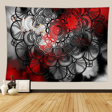 Red Black Mandala Tapestry Wall Fabric Home Dorm Decor Indian Wall Tapestry Mandala Decoration Divination Wall Cloth Tapestries