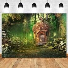 Yeele портрет мечтательной лесом и джунглями в растений фон