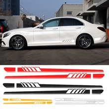 1Pair Universal Car Body Side Stickers Self Adhesive Decals Cars Racing Stripe Side Body Decals