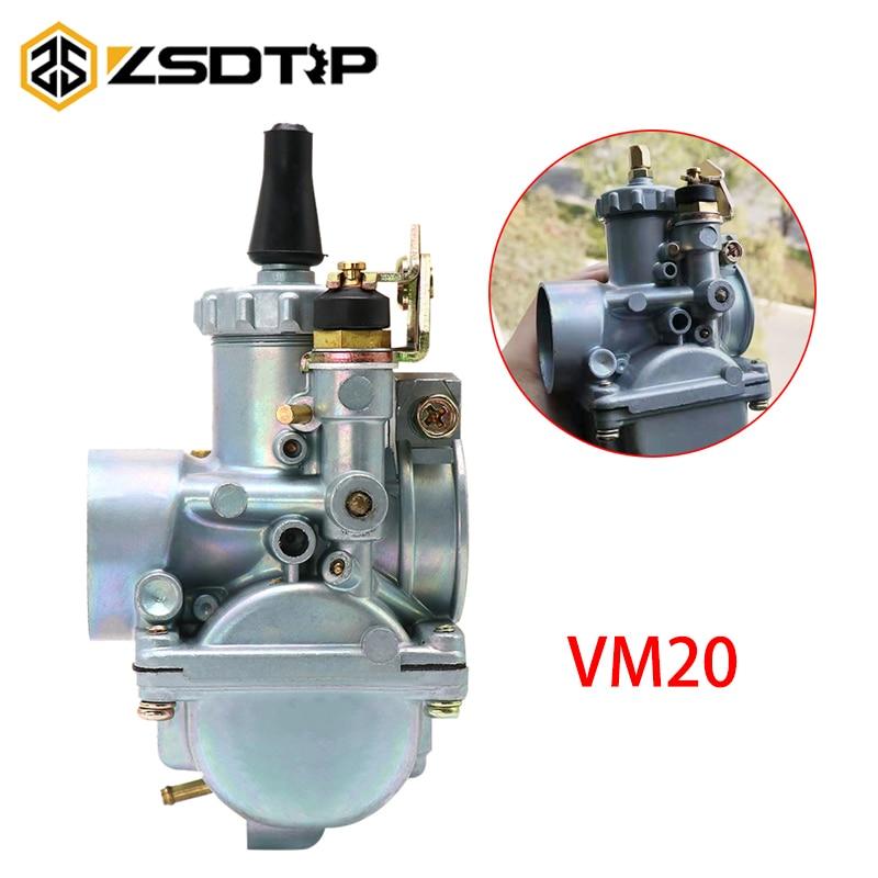 Zsdtrp vm20 vm 20 20mm mikuni carburador, substituição de carb redondo para motocicleta atv utv dirt bike 50cc 100cc 125cc