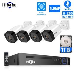 Surveillance-Kit HDD Security-System Poe-Ip-Camera Hiseeu Outdoor H.265 Audio P2p-Video