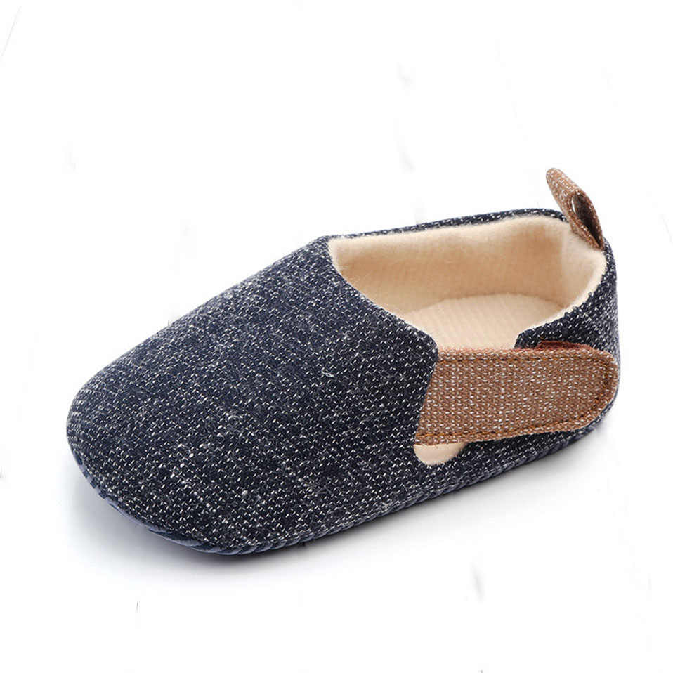 Boy Plaid Shoes Toddler Booties Newborns Sole Classic Floor 0-18 Months Soft Infant Brand Crib First Walkers