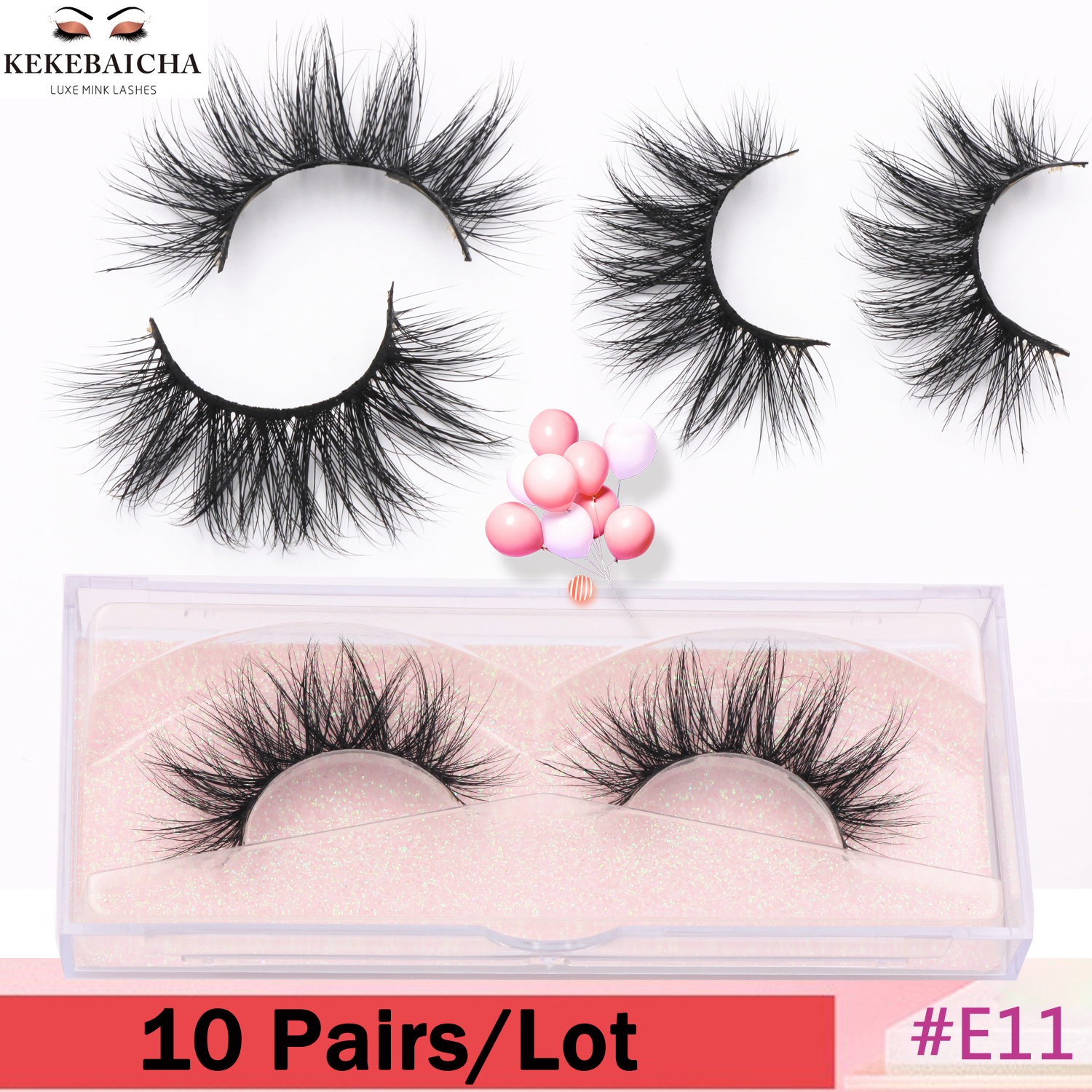 10 Pairs 3D Mink Eyelashes Glamour Volume Mink Lashes Fluffy Luxurious Lashes Long Lasting False Eyelash Makeup Fake Eyelashes