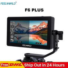Feelworld F6 Plus 5,5 дюймов сенсорный экран на камеру монитор 1920*1080P 3D LUT 4K HDMI видео фильм монитор для DSLR Gimbal