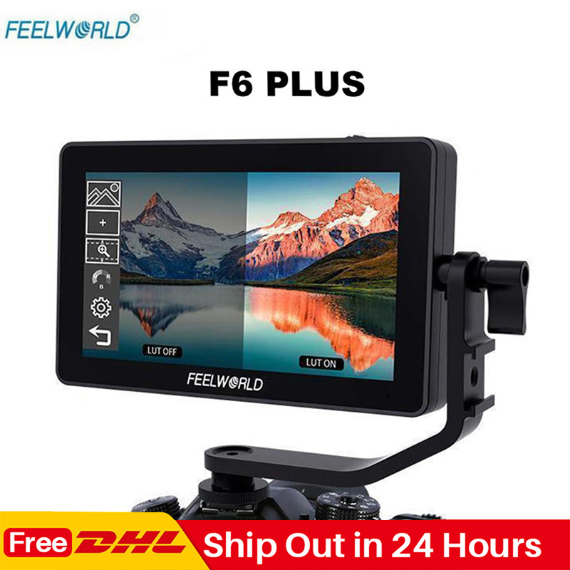 Feelworld F6 Plus 5,5 Zoll Touch Screen Auf Kamera Monitor 1920*1080P 3D LUT 4K HDMI Video filmausrüstung Monitor für DSLR Gimbal