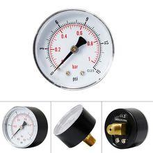 Pressure Gauge 52mm Dial 1/4 BSPT Horizontal 0/15,30,60.100,160,300 PSI & Bar N84C