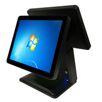 Dual 15 LCD Monitor POS System One Touch Screen Cash Register for Restaurant & Hotel POS Terminal