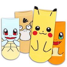 Women's Slipper Harajuku Cartoon Pokemon Kawaii Character Duck Cute Fashion Patterend Ankle Socks for Girl(China)