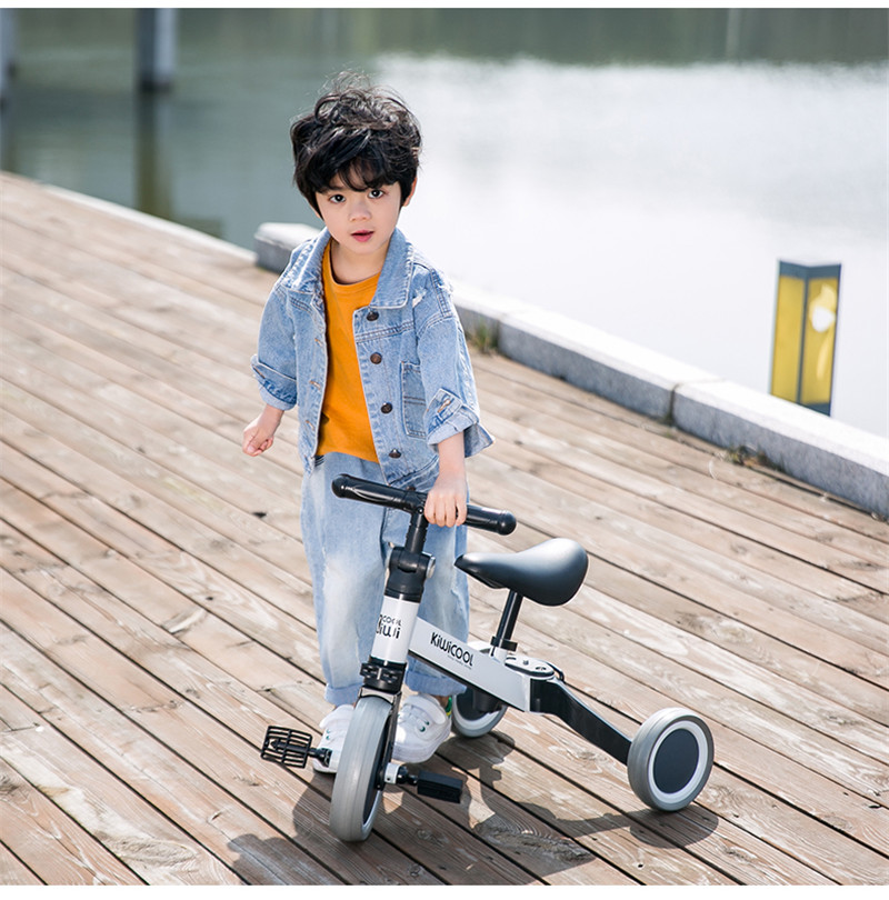 Hd457435c0ce040d299ed3c44c87fb7008 3 in 1 Kids Tricycle + Balance bike + Baby walker Child Push Bike Toddler Learn to Ride Bicycle Ride On Toy Boy Girl Xmas Gift