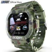 LOKMAT Ocean Смарт-часы для мужчин фитнес-трекер кровяное давление сообщение Push монитор сердечного ритма часы Смарт-часы для женщин для Android