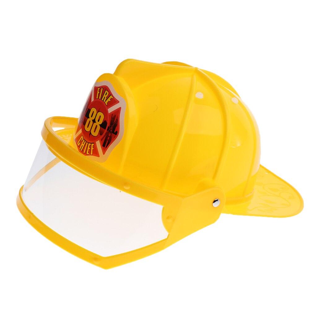 Детский шлем пожарный шляпа нарядное платье аксессуары для детей Хэллоуин вечерние ролевые игры игрушка-желтый