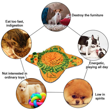 Pet Dog Snuffle Mat Pet Sniffing Training Pad Blanket Puzzle Dog Mat Relieve Stress Nosework Dog Toy Pet Dog Slow Feeding Feeder 2