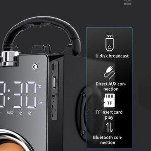 Image 3 - Bluetooth スピーカーポータブル大パワー無線 2200 2600mah サブウーファー重低音ステレオ音楽プレーヤーの液晶ディスプレイ FM ラジオ TF