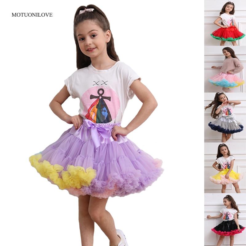 Children Ballet Dress Kids Pettiskirt Flower Girl Underskirt Stock Pettycoat Princess Party Dance Baby Tutu Skirt Ball Gown