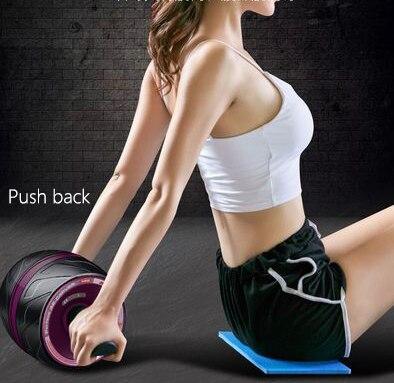 Equipo de Fitness equipo para ejercicio muscular Home Ab rodillos de una rueda Abdominal Power Wheel gimnasio rodillo Abs entrenamiento - 2